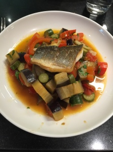 Sea Bass with Rataouille