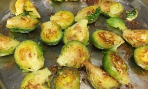 Pan Charred Brussels Sprouts